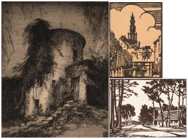 William Timlin; The Old Fort, Grahamstown; At Rondebosch, Cape; Brussels, three