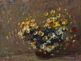 Adriaan Boshoff; Daisies in a Copper Pot