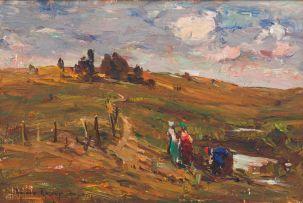 Adriaan Boshoff; Three Figures in a Landscape