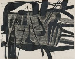 Cecil Skotnes; Abstract in Black
