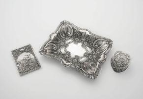 A George V silver card case, G. Loveridge, Birmingham, 1910