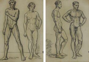 Erich Mayer; Figure Studies, two