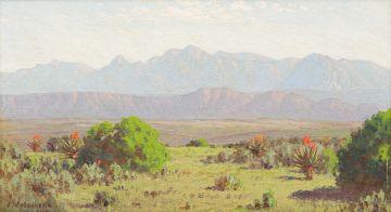 Jan Ernst Abraham Volschenk; From the Heights at Melkboom, Riversdale