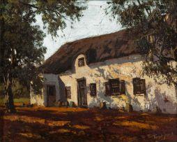 Tinus de Jongh; Old Dutch House at Worcester