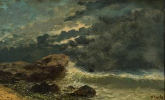 S Lechi; Stormy Seascape