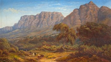 Charles Rolando; A View of Devil's Peak and the Eastern Slopes of Table Mountain