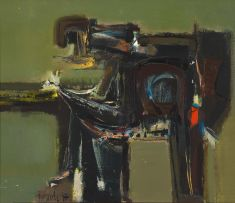 Sidney Goldblatt; Seated Figure at Work