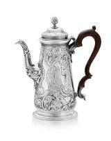A George II silver coffee pot, William WilliamsI, London, 1743