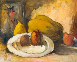 Alexander Rose-Innes; Still Life with Plate and Fruit