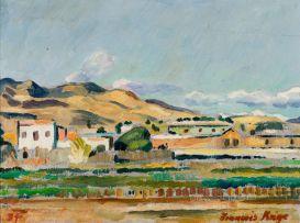 François Krige; Landscape with Distant Village
