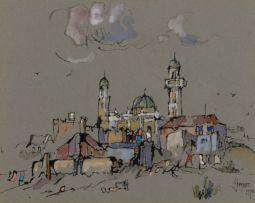 Gregoire Boonzaier; Moskee en Agterbuurt, Ou Kaapstad (Mosque and Slums, Old Cape Town)