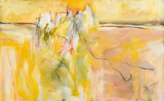 Fred Schimmel; Abstract in Yellow