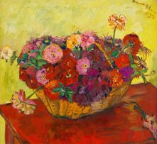 Irma Stern; Still Life with Basket of Flowers