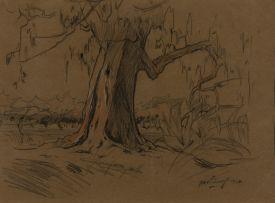 Jacob Hendrik Pierneef; Large Tree in a Landscape