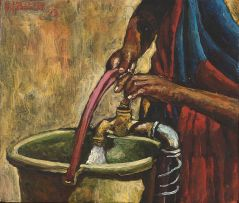 Willie Bester; Collecting Water