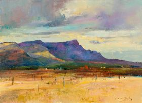 Errol Boyley; Landscape with Purple Mountains