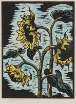 Gregoire Boonzaier; Sunflowers