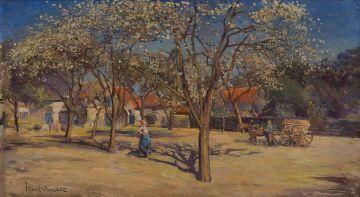 Frans Oerder; Farm Scene
