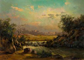 Tinus de Jongh; Sunset, Natal