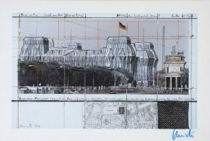 Christo (Vladimirov Javacheff); Wrapped Reichstag (Project for Berlin)