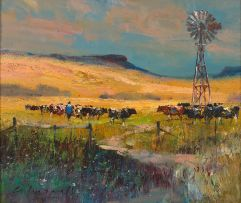 Christopher Tugwell; Cattle by a Windmill