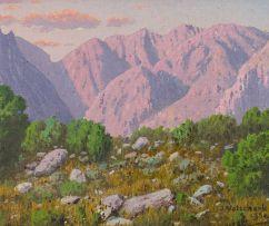 Jan Ernst Abraham Volschenk; Die Berge in Keurkloof, Montagu
