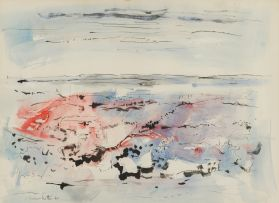 Dirk Meerkotter; Landscape in Red and Blue