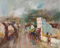 Wessel Marais; Street Scene, District Six