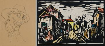 Gregoire Boonzaier; Fisherman, Bo-Kaap; Houses, two