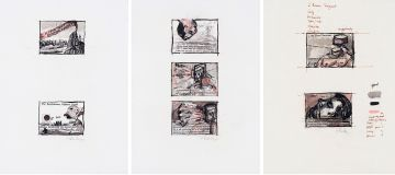 William Kentridge; Russian Fragments, three