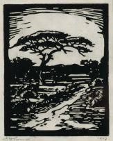Jacob Hendrik Pierneef; Die Eensame Pad (The Lonely Road) (Nilant 69)