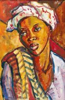Hennie Niemann Jnr; Woman with Scarf
