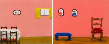 Sam Nhlengethwa; Interiors, two