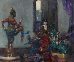 John Henry Amshewitz; Still Life with Oriental Ornaments