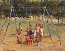 Adriaan Boshoff; Children Playing on a Swing