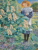 Sydney Carter; Girl in a Garden