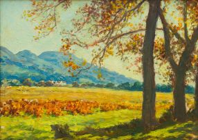 Edward Roworth; Landscape with Cape Vineyards