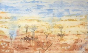 Gordon Vorster; Gemsbokke in an Extensive Arid Landscape
