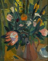 Alfred Krenz; Vase of Flowers