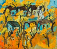 Frans Claerhout; Village Landscape