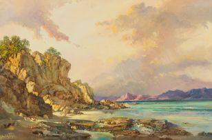 Gabriel de Jongh; Coastal Scene