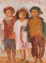Amos Langdown; Children with Fish
