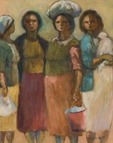 Amos Langdown; Four Women
