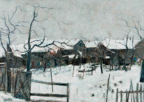 Bernard Gantner; Neige à Giromagny (Snow at Giromagny, France)