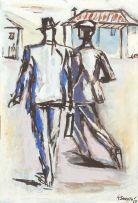 Gerard Sekoto; Two Men Walking