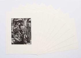 Armando Baldinelli; Ten Original Woodcuts, portfolio