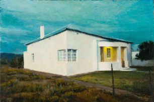 Walter Meyer; House in Landscape
