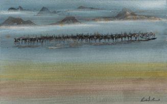 Gordon Vorster; Mirage with Herd of Gemsbok
