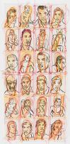 Conrad Botes; Untitled (Male Portraits II)