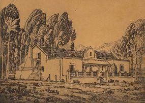 Jacob Hendrik Pierneef; Boerehuis, Tulbagh, K.P.